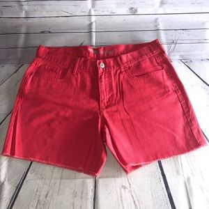 Old Navy Woman's Red Jean Shorts Size 8